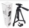 Tiktok Tripod 3120 Camera Stand with Phone Holder Clip --- Black